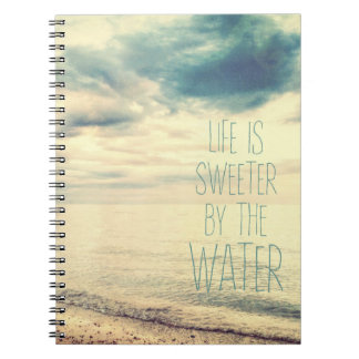 Life Is Sweeter Beach Scene Notebooks
