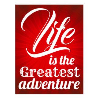 Life is the Greatest Adventure Postcard