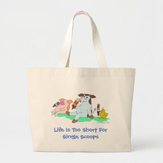 Life Is Too Short For Single Scoops Jumbo Tote Bag
