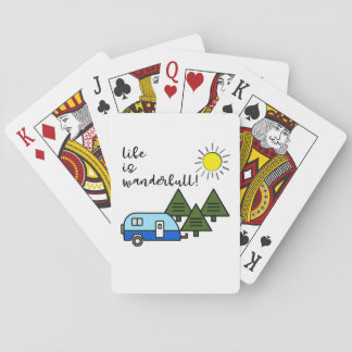 life is wanderfull! playing cards