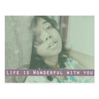 Life is Wonderful Postcard