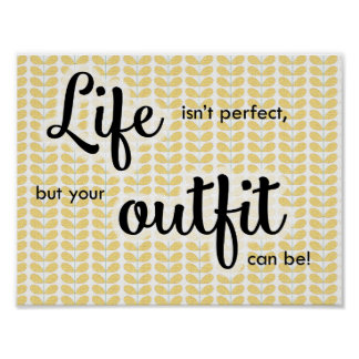 "Life Isn't Perfect 8.5x11"" Print"