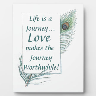 Life Journey Love Worthwhile Vintage Plaque