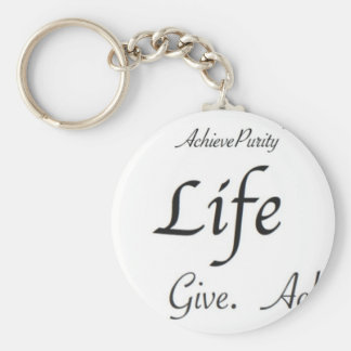 Life:  Learn. Give. Achieve. Key Chains