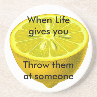 Life Lemon Coaster