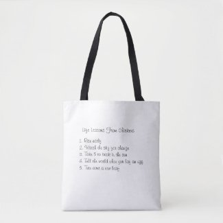 Life Lessons From Chickens Tote Bag
