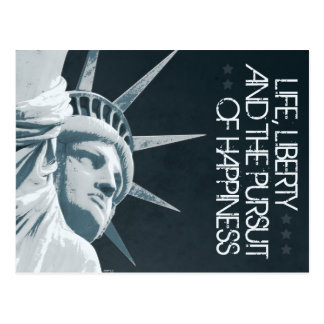 Life, Liberty, Happiness Postcard