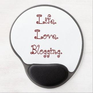 Life. Love. Blogging. Gel Mousepad