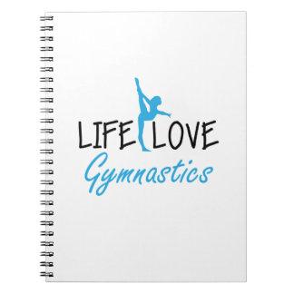 Life Love Gymnastics Gymnastic Gymnast Cute Gift Notebook