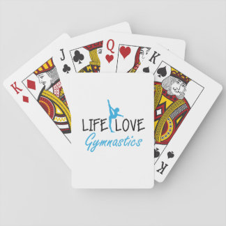 Life Love Gymnastics Gymnastic Gymnast Cute Gift Playing Cards