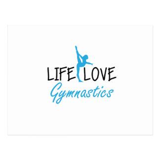 Life Love Gymnastics Gymnastic Gymnast Cute Gift Postcard