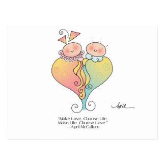 LIFE & LOVE Postcard by April McCallum