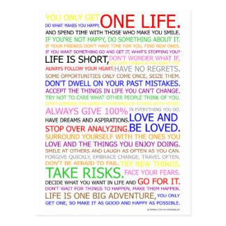 Life Manifesto Color Poster Postcard