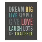 LIFE MANTRA positive cool typography pastel Poster
