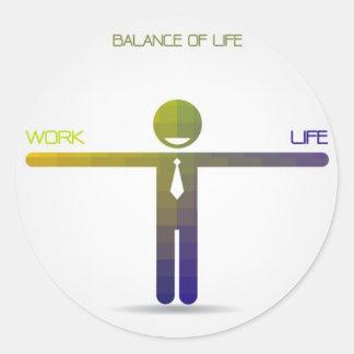 Life Needs Balance Classic Round Sticker