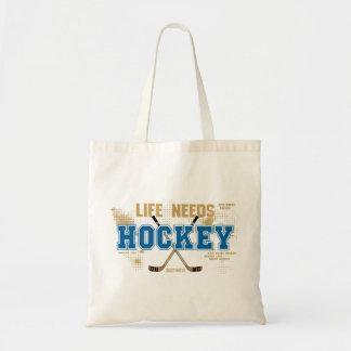 Life Needs Hockey Tote Bag