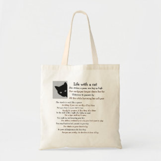 Life of a cat owner tote bag