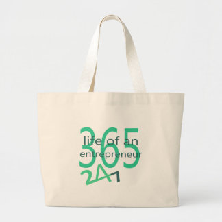 Life of an entrepreneur large tote bag