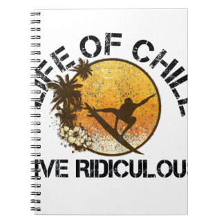 life of chill spiral notebook