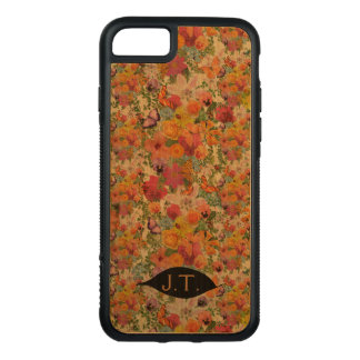 Life of Flowers design with monograms Carved iPhone 8/7 Case