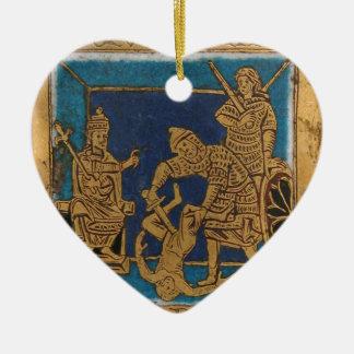 Life of Jesus Ceramic Heart Ornament