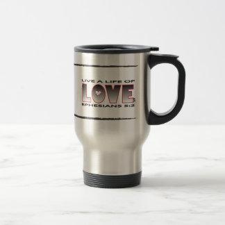 Life of Love Christian travel mug