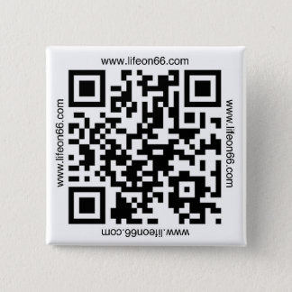 Life On 66 Button(QR code) 2 Inch Square Button