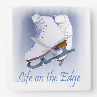 Life on the Edge Square Wall Clock