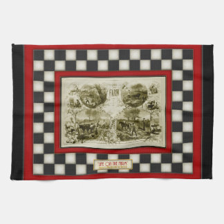 Life on the Farm Country Checkerboard Kitchen Towel