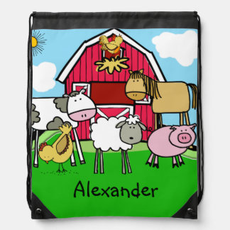 Life on the Farm Drawstring Bag