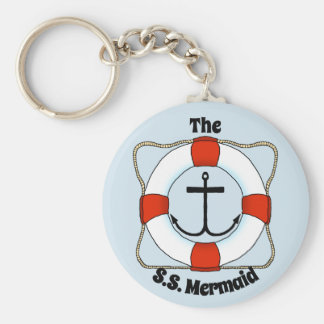 Life Preserver and Anchor Key Chain