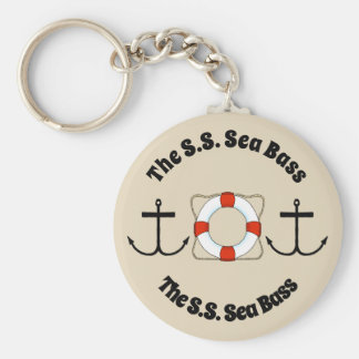 Life Preserver and Anchors Key Chain