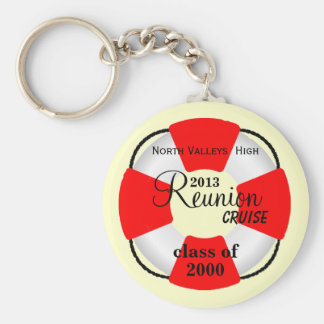 Life Preserver Class Reunion Cruise Basic Round Button Keychain