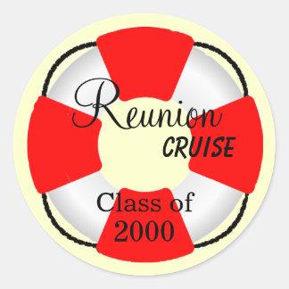 Life Preserver-Reunion Cruise Round Stickers