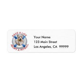 Life Preserver with Pitbull Adoption Labels