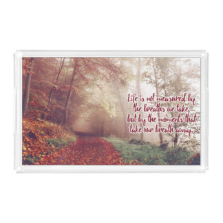 Life Quote serving trays