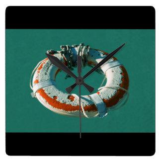 Life Ring Art Photograph Wall Clock