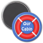 Life Ring Stateroom  Door Marker 3 Inch Round Magnet