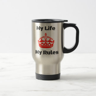 life rules travel mug