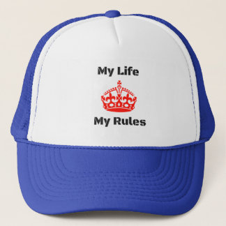 life rules trucker hat
