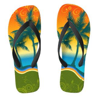 Life's a Beach Wide Strap Flip Flops
