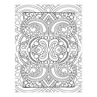 Life´s pattern nr2 postcard
