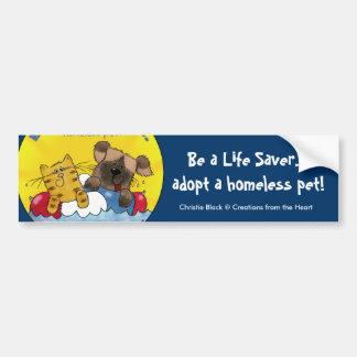 Life Saver Adopt Homeless Pets Bumper Sticker