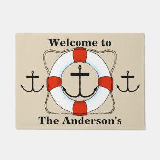 Life Saver & Anchor Door Mat