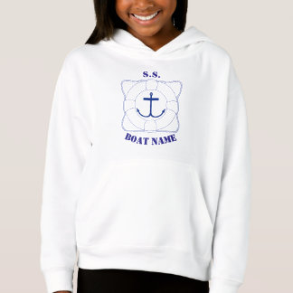 Life Saver/Anchor Girls Hoodie (Dark Print)