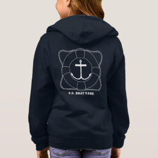 Life Saver/Anchor Girls Hoodie (Lite Print)