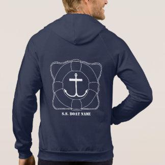 Life Saver/Anchor Men's Hoodie (Lite Print)