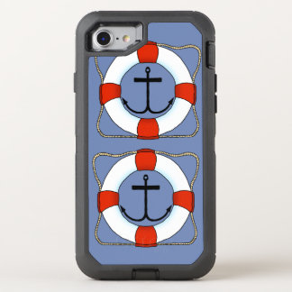 Life Saver and Anchor Boating Otterbox Cell Phone OtterBox Defender iPhone 8/7 Case