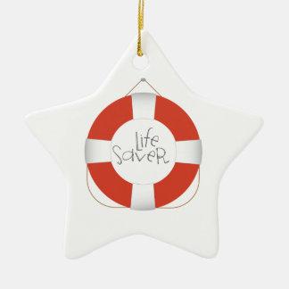Life Saver Ceramic Star Ornament