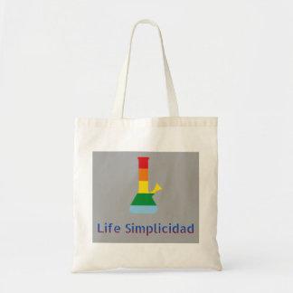 Life Simplicidad Rainbow Bong & Text Tote Bag